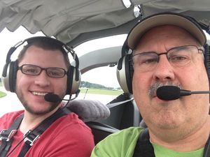 RV12 in air photo with my#2 son Justin Valcik
